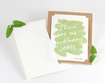 Catnip Greeting Card for Cat Lovers and Cats to Share