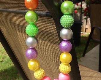Little girls Spring bubblegum necklace