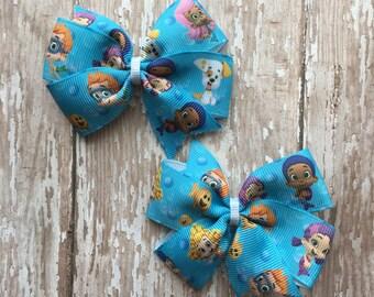 Bubble Guppies Hair Bow - Bubble Guppies Birthday - Bubble Guppies Birthday Party - Bubble Guppi
