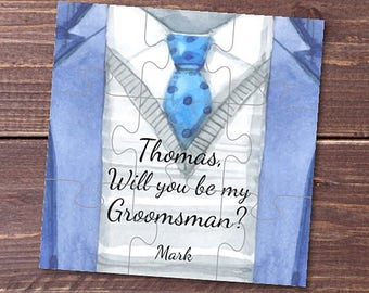 Will you be my Groomsman gift Be my Best man card Groomsman proposal Junior Groomsman Will you be my Ring Bearer gift puzzle Groomsmen card