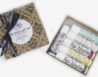 Lip Balm Gift Set | Lip Butter | Handmade Lip Balm | Shea Butter, Cocoa Butter, and Aloe | Lip Balm Bundle | Gift Idea
