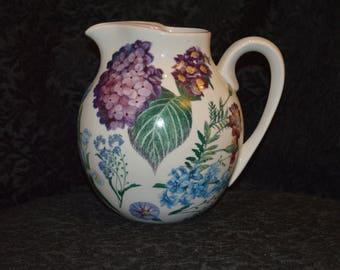 Vintage pitcher vintage Hand Painted Pitcher Vintage hand painted vase Vintage home decor hand painted china hand painted china Portugal