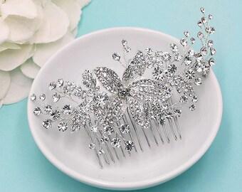 Swarovski Bridal Comb, Rhinestone Comb, Bridal Comb Crystal, Wedding Crystal Hair Comb, Hair Comb, Wedding Accessory, Bridal Headpiece, Comb