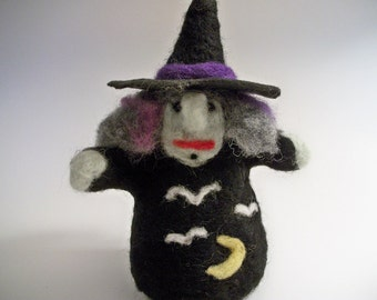 Witch Figure, Needle Felted Witch, Witch Doll, Handmade Witch, Plush Witch, FeltWithAHeart