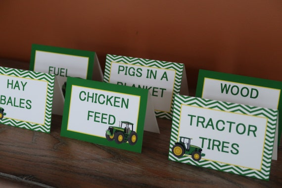 Like this item? & John Deere Themed Food Tent Cards Customizable Tractor