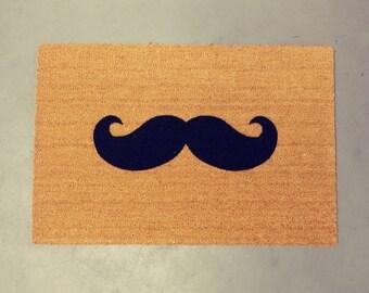 Mustache Doormat (size opts)