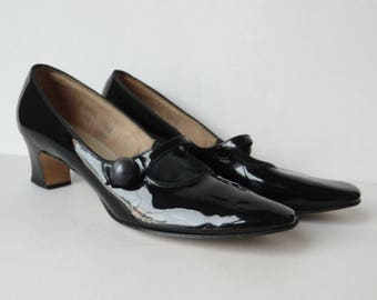 60s Vintage Patent Leather Shoes // The American Girl // Narrow Heel