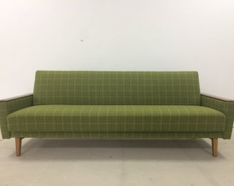 Midcentury vintage green sofa bed