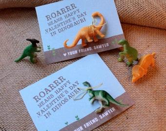 Roar Dinosaur Valentine - Classroom Valentine, Kids Valentine, Valentine Treat, Dinosaur, Roar, Personalized Printable, Valentine's Day