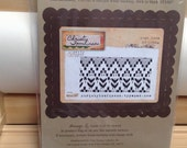 Ikat Love Christy Tomlinson Unity Stamp Company red rubber unmounted cling stamp Unused