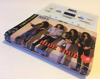 KISS Hide Your Heart Betrayed Cassette Single Cassette Tape Music Audio Vintage