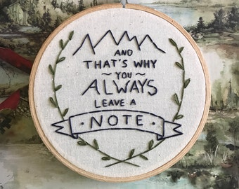 Hand Embroidery - Arrested Development
