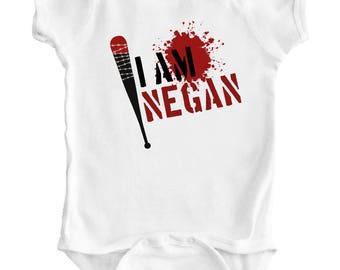 THE WALKING DEAD - I am Negan - Baby Romper / Creeper / Bodysuit / Vest / One piece / Zombie