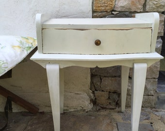 Night table bedside white shabby vintage chic