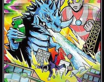 Ultraman 11x17 digital print