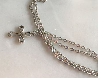 feminine cross necklace