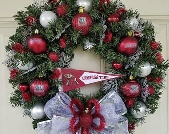 Alabama Titans Christmas Wreath
