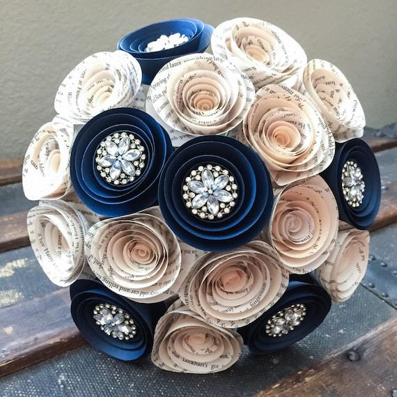 Wedding Flowers - Paper Flower Bouquet - Wedding Bouquet Alternative ...