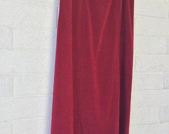 90s Dark Red Skirt   by Notations   Size Medium