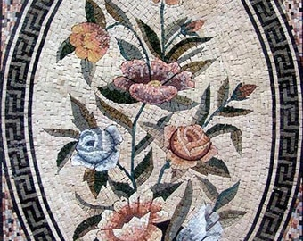 Flower Marble Pattern Design