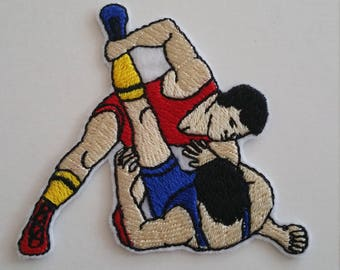 Wrestling  iron on or sew on patch Fight patch Sport iron on patch Sport sew on patch Wrestling applique Sport applique