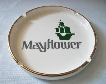 Vintage Mayflower Ashtray, Connecticut Trucking Moving Company Ashtray, Coin Holder or Trinket Dish