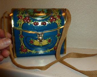 Vintage Handbag Biscuit Tin From The 1910's - 1920's