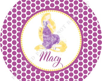 Rapunzel plate- Princess plate- Personalized melamine plate- Personalized plate- Kids plate- Personalized with name - Girl