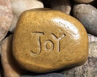 Joy Etched Stone