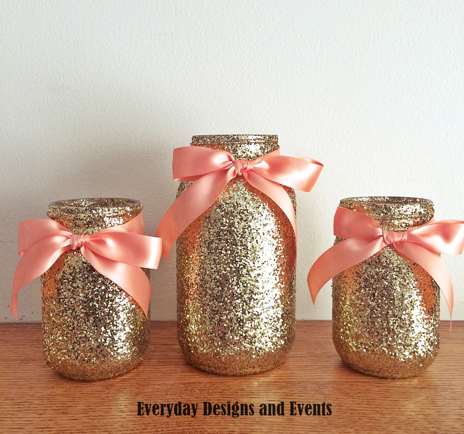 Mason Jar Centerpiece Gold baby shower ideas baby shower