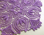 Spring Lilac in a doily crocheted from eco-cotton. A gift for your beloved mother and grandmother