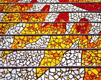 Mosaic stairs 16th Ave San Francisco art Photography Wall Decor Sun California