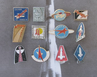 Space, Badges, Pick from Set, Spacecraft, Rare Vintage collectible badge, Soviet Vintage Pin, Soviet Union, Made in USSR