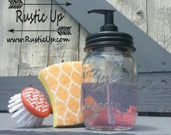 Mason Jar Soap Dispenser - Ball Mason Jars - Farmhouse Decor - Rustic Home Decor - Housewarming - Wedding Gifts - Soap Dispenser - Rustic