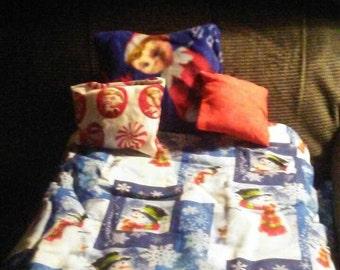 American Girl inspired by Kaya or 18 inch dolls Snowman bedding set