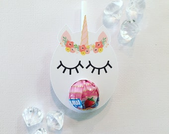 Floral unicorn MINI lollipop holders