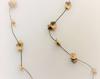 Spring, light paper necklace