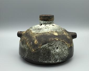 Ruscha Keramik 348 Fat Lava Vase  1960s / 1970s Vintage Mid-Century Modern Pottery West Germany.  WGP.