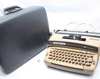 Working Vintage Smith Corona Coronet Super 12 Typewriter, Brown, W/ Case & Key