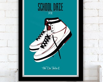 School Daze - Nike Air JordanII poster- Spike Lee - 1986