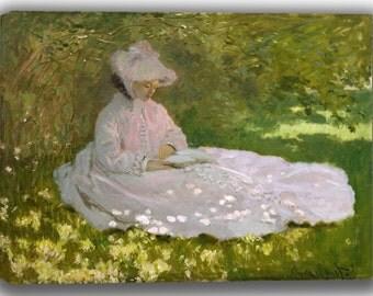 Claude Monet: Springtime. Fine Art Canvas. (04077)