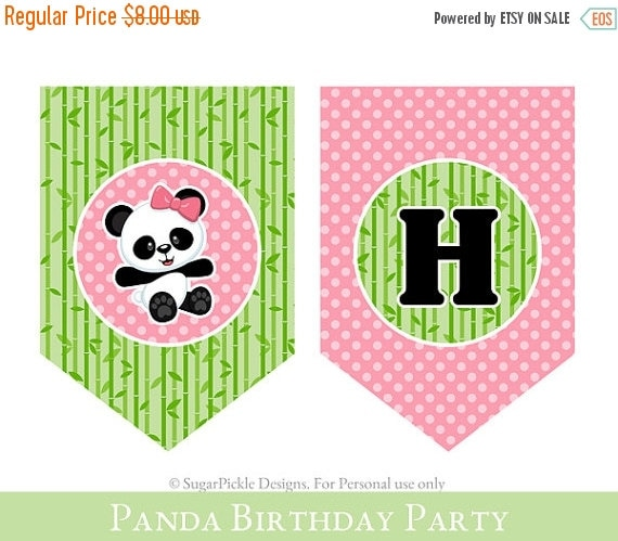Panda 2nd Birthday Banner Girl 2nd Birthday By