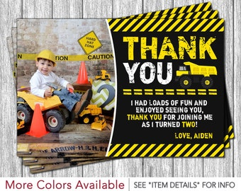 Construction Thank You Card - Personalized Thank You Cards