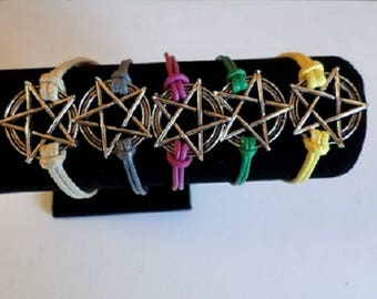 Wiccan pentacle star choice bracelet