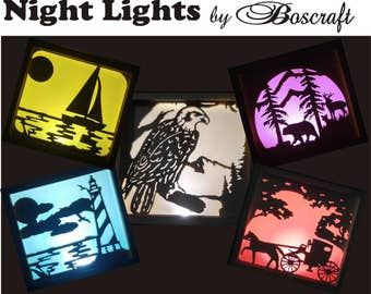 Night Lights by Boscraft (FREE SHIPPING)
