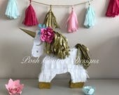 Unicorn Piñata/ Unicorn Pinata/ Unicorn Gift Favor/ Unicorn Birthday/ Unicorn Bridal Shower/ Unicorn Baby Shower/ Magical Decoration