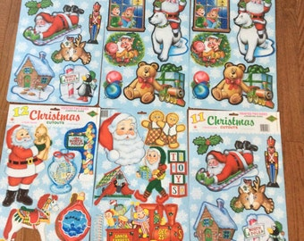 34 Vintage Beistle Christmas Paper cutouts