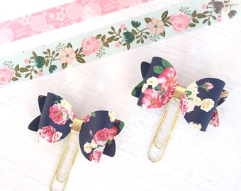 Floral Fabric Bow Paperclip...