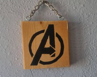 Hand Painted Marvel Logo Wall Art
