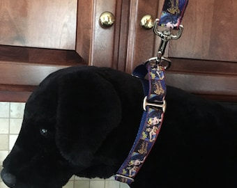 Wonder Woman MARTINGALE Large and Medium Dog Collar and Optional Matching Leash